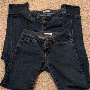 2 pairs - Loft Modern Straight jeans Size 25